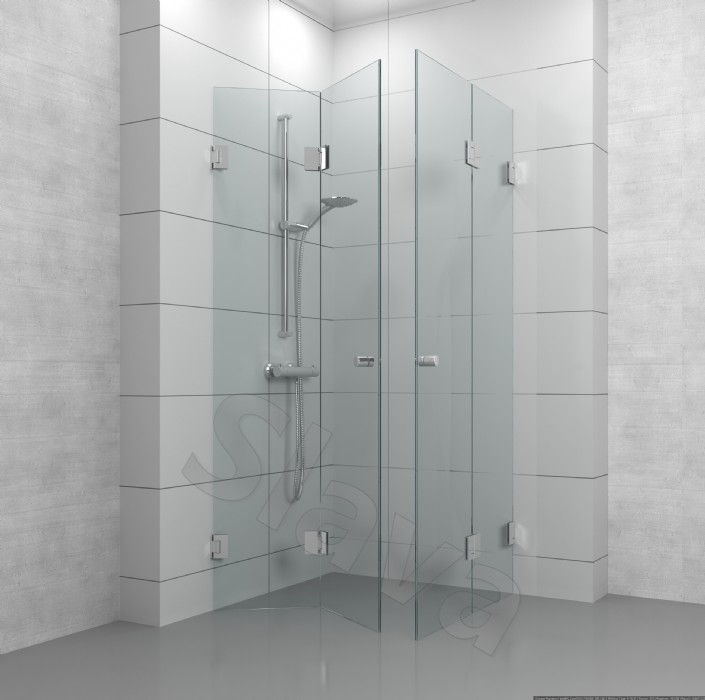 הוראות חדשות מקלחון פינתי מתקפל עם צירים עדן PF-42